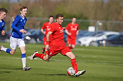LIVERPOOL, ENGLAND - Saturday, April 9, 2016: Liverpool's Herbie Kane in action against Everton during the FA Premier League Academy match at Finch Farm. (Pic by David Rawcliffe/Propaganda)