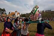 TRADITIONAL REPRESENTATION OF THE VIRGIN MARIA AT THE HATUN LUYA FESTIVAL., .   The Hatun Luya is a festival celebrated every september 13th, where everyone from the surrounding areas comes together. During this festivity, you can witness demonstrations of popular customs.