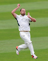Worcestershire's Joe Leach. - Photo mandatory by-line: Harry Trump/JMP - Mobile: 07966 386802 - 21/08/15 - SPORT - CRICKET - LV County Championship Division One - Day One - Somerset v Worcestershire - The County Ground, Taunton, England.