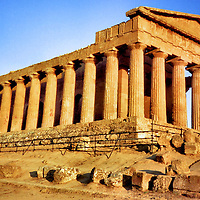 Greek Temple of Concordia in Agrigento Sicily, Italy<br />