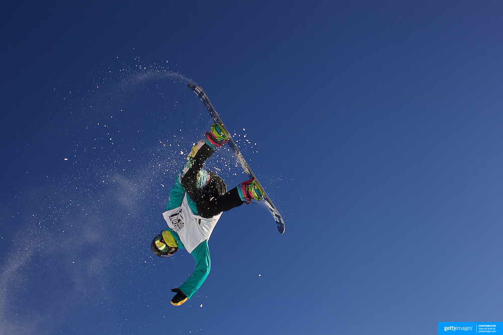 Ikkou Anai, Japan, in action during the Men's Half Pipe Finals at the Burton New Zealand Open 2011 held at Cardrona Alpine Resort, Wanaka, New Zealand, 13th August 2011. Photo Tim Clayton