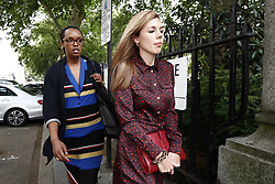 © Licensed to London News Pictures. 12/06/2019. London, UK. Carrie Symonds leaves Boris Johnson's Conservative party leadership campaign in central London. Photo credit: Peter Macdiarmid/LNP