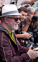 Director and President of the Jury Pedro Almodóvar with photographers <br /> at the Members of the Jury photocall at the 70th Cannes Film Festival Wednesday May 17th 2017, Cannes, France. Photo credit: Doreen Kennedy