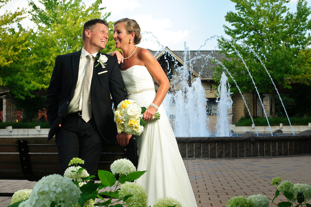 Mary Beth Sterr and John Jones celebrate their wedding with family and friends at Fredenhagen Park and Maggiano's Little Italy in west suburban Naperville on Sunday, July 13th. ©2014 Brian J. Morowczynski ViaPhotos