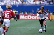 FIFA World Cup - USA 1994<br /> 10.7.1994, Giants Stadium, New York/New Jersey.<br /> World Cup Quarter Final, Bulgaria v Germany.<br /> Andreas Brehme - Germany