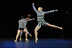 "© Copyright licensed to London News Pictures. 05/10/2010. Stephen Petronio Company presents ""I Drink the Air Before Me"" at the Barbicam. The piece takes its title from a line in ""The Tempest"" by Shakespeare and is inspired by storms, both environmental and internal."