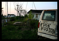 21 July 2006 - New Orleans - Louisiana. Guard duty. Looter Patrol. The Louisiana National Guard patrol the streets of the shattered lower 9rth ward as the city cracks down on law and order.