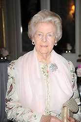 The DOWAGER DUCHESS OF DEVONSHIRE at a party to celebrate Penguin's reissue of Nancy Mitford's 'Wigs on The Green' hosted by Tatler at Claridge's, Brook Street, London on 10th March 2010.