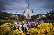 This is the St. Louis Cathedral in Jackson Square in the French Quarter of New Orleans. ©Kathy Anderson, All Right Reserved