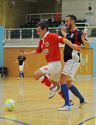 Bristol City Futsal take control of possession. - Photo mandatory by-line: Nizaam Jones - Mobile: 07583 387221 - 02/11/2014 - SPORT - Futsal - Gloucester - Gloucester University - v BCFC Futsal- Sport