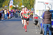 Chris Thompson (GBR) leads the race during The Great South Run in Southsea, Portsmouth, United Kingdom on 23 October 2016. Photo by Jon Bromley.