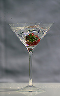 Strawberry in a Martini glass series.