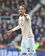 Chris Smalling (12) of Manchester United pointing during the Premier League match between Bournemouth and Manchester United at the Vitality Stadium, Bournemouth, England on 3 November 2018.