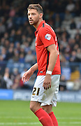 Coventry City Defender, Aaron Martin during the Sky Bet League 1 match between Bury and Coventry City at Gigg Lane, Bury, England on 26 September 2015. Photo by Mark Pollitt.