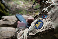 Image shows troops from 77th Brigade Information Warfare Teams (Project Hemmingway) going through intensive build up training on Longmoor Camp.<br /> <br /> 04/05/2016.<br /> <br /> Credit should read: Cpl Mark Larner RY