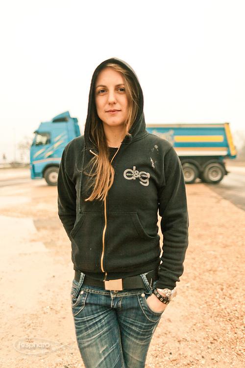 Verona - Juska (28), con il suo mezzo.