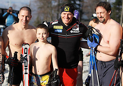 22.03.2011.,Zagreb - The new celebration of winning FIS world Cup and  Croatian skier Ivica's Kostelic.Faithful fans ski dressed only in underwear on Sljeme.Ivica Kostelic.                                                                                                    Foto © EXPA Pictures © 2011, PhotoCredit: EXPA/ nph/  Pixell       ****** out of GER / SWE / CRO  / BEL ******