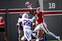 Wolfpack wide receiver JuMichael Ramos makes a TD catch against Furman.