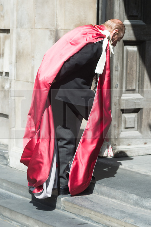 © Licensed to London News Pictures. 24/05/2017. London, UK. The DUKE OF EDINBURGH attends service to mark the of the Order of the British Empire at St Paul's Cathedral. Photo credit: Ray Tang/LNP