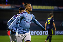 Gabriel Jesus of Manchester City celebrating during football match between GNK Dinamo Zagreb and Manchester City in 6th Round of UEFA Champions league 2019/20, on December 11, 2019 in Maksimir, Zagreb, Croatia. Photo by Blaž Weindorfer / Sportida