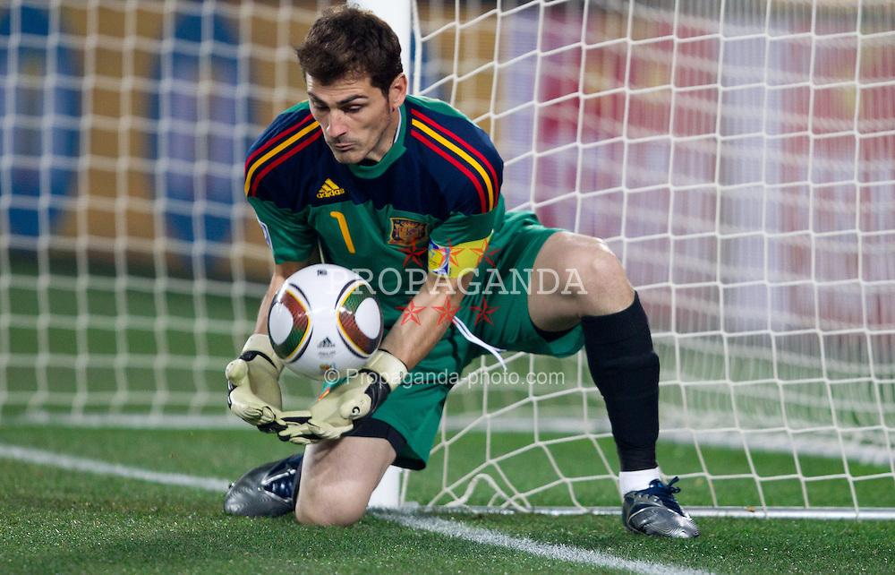 21.06.2010, Ellis Park Stadium, Johannesburg, RSA, FIFA WM 2010, Spain (ESP) vs Honduras (HND), im Bild Iker Casillas of Spain. EXPA Pictures © 2010, PhotoCredit: EXPA/ Sportida/ Vid Ponikvar