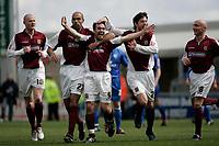 Photo: Marc Atkins.<br /> <br /> Northampton Town v Rochdale. Coca Cola League 2. 08/04/2006. Northampton Town's Scott McGliesh celebrates scoring his sides 2nd goal