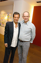 Left to right, DAVID HAYMAN and DAMIAN ELWES at a private view of artist Damian Elwes work 'Artists Studios' held at Scream, 34 Bruton Street, London W1 on 29th June 2006.<br /><br />NON EXCLUSIVE - WORLD RIGHTS