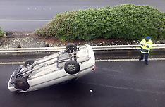 Wellington-Car rolls on Thorndon offramp causing delays