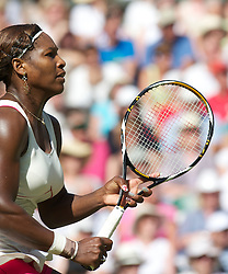 LONDON, ENGLAND - Tuesday, June 29, 2010: Serena Williams (USA) during the Ladies' Singles Quarter-Final match on day eight of the Wimbledon Lawn Tennis Championships at the All England Lawn Tennis and Croquet Club. (Pic by David Rawcliffe/Propaganda)