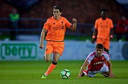 LEYLAND, ENGLAND - Friday, September 1, 2017: Liverpool's Harry Wilson during the Lancashire Senior Cup Final match between Fleetwood Town and Liverpool Under-23's at the County Ground. (Pic by Propaganda)