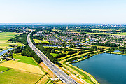 Nederland, Noord-Holland, Gemeente Ouder-Amstel, 29-06-2018; Ouderkerk aan de Amstel, brug in A9 over de Bullewijk.<br /> A9 bridge river Bullewijk.<br /> luchtfoto (toeslag op standard tarieven);<br /> aerial photo (additional fee required);<br /> copyright foto/photo Siebe Swart