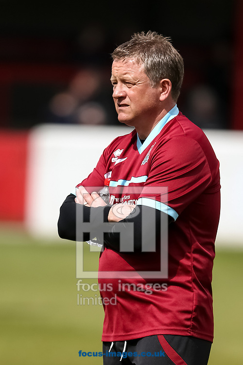 Northampton manager, Chris Wilder, during the Sky Bet League 2 match at the London Borough of Barking and Dagenham Stadium, London<br /> Picture by Andy Kearns/Focus Images Ltd 0781 864 4264<br /> 26/04/2014