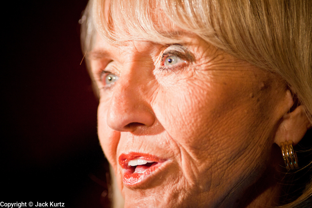 24 AUGUST 2010 -- TUCSON, AZ: Gov Jan Brewer made an appearance at Mr. An's Teppan Steak & Sushi in Tucson Tuesday night just as early returns in Arizona's primary elections were starting to come in. Brewer's victory has been credited to her signing SB 1070 and taking a tough stand on illegal immigration and against the Obama administration.   PHOTO BY JACK KURTZ