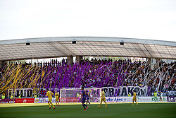 Viole, Maribor's supporters during football match between NK Maribor and NK Domzale of 36th - Last Round of 1st Slovenian football league PrvaLiga, on May 29, 2011 in Stadium Ljudski vrt, Maribor, Slovenia. (Photo By Vid Ponikvar / Sportida.com)