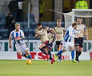 18th November 2017, Dens Park, Dundee, Scotland; Scottish Premier League football, Dundee versus Kilmarnock; Dundee's Faissal El Bakhtaoui and Kilmarnock's Stephen O'Donnell