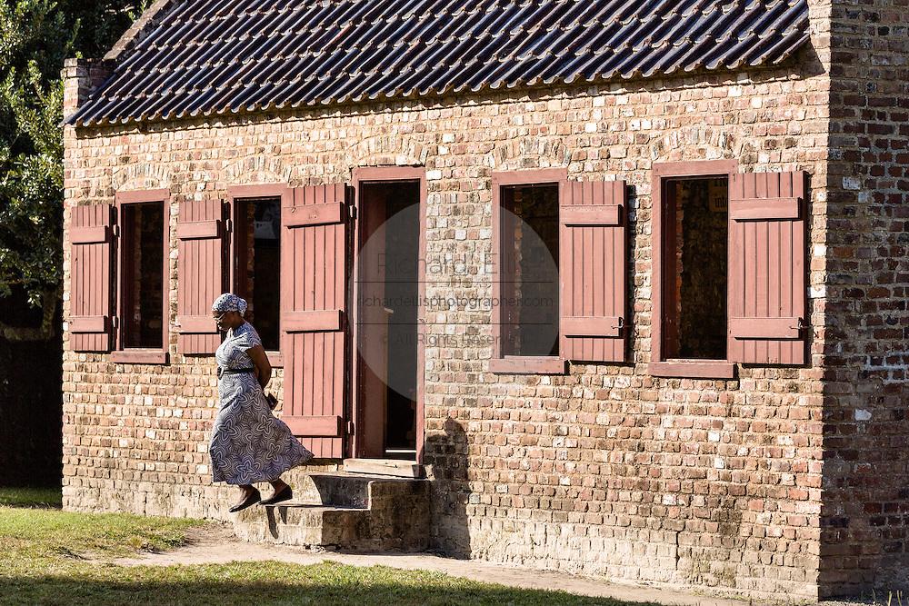 A civil war era slave cabin at Boone Hall Plantation in Mt Pleasant, South Carolina.