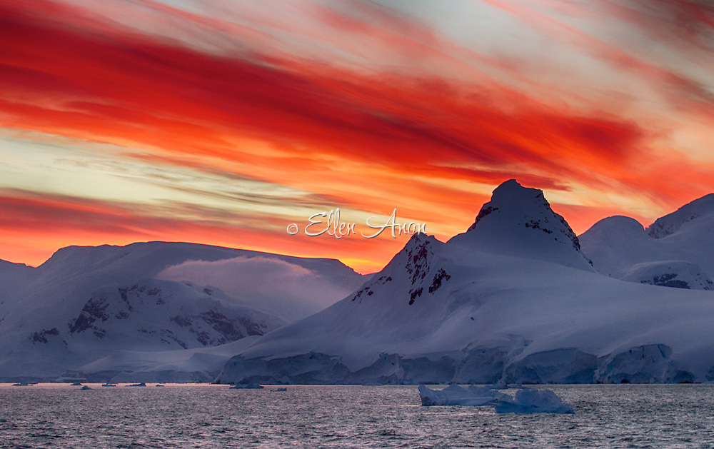 Wilhelmina Bay sunset, Antarctica