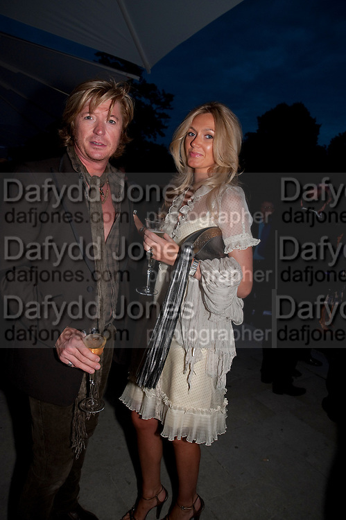 NICKY CLARKE; KELLY SIMPKIN, Alexandra Shulman, Editor of Vogue & Phil Popham, Managing Director of Land Rover<br /> host the 40th Anniversary of Range Rover. The Orangery at Kensington Palace. London. 1 July 2010. -DO NOT ARCHIVE-© Copyright Photograph by Dafydd Jones. 248 Clapham Rd. London SW9 0PZ. Tel 0207 820 0771. www.dafjones.com.