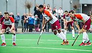 ALMERE - Hockey - Hoofdklasse competitie heren. ALMERE-HGC (0-1) . Terrance Pieters (Almere) met rechts Stijn Jolie (Almere) COPYRIGHT KOEN SUYK