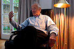 UK ENGLAND LONDON 29APR04 - Playwritght, novelist and translator Michael Frayn during interview at his home in Richmond. His latest play, called 'Democracy' deals with post-war German parliamentary politics and the fall of chancellor Willi Brandt.....jre/Photo by Jiri Rezac....© Jiri Rezac 2004....Contact: +44 (0) 7050 110 417..Mobile:  +44 (0) 7801 337 683..Office:  +44 (0) 20 8968 9635....Email:   jiri@jirirezac.com..Web:    www.jirirezac.com....© All images Jiri Rezac 2004 - All rights reserved.