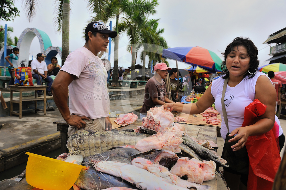 Iquitos market, amazon basin