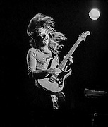 "Jeff ""Skunk"" Baxter performs with the Doobie Brothers at the Honolulu International Center Arena in 1975.  The Honolulu International Center (HIC) has now been re-named the Neil S. Blaisdell Arena..©PF Bentley/PFPIX.com"