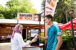 Andraz Bedene at Petrol VIP tournament 2018, on May 24, 2018 in Sports park Tivoli, Ljubljana, Slovenia. Photo by Vid Ponikvar / Sportida