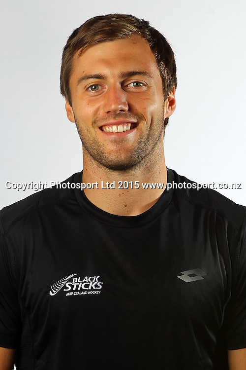 Nic Woods, Black Sticks Men, New Zealand men's hockey team headshots, North Harbour Hockey Stadium, Auckland. 12 March 2015. Copyright Photo: William Booth / www.photosport.co.nz