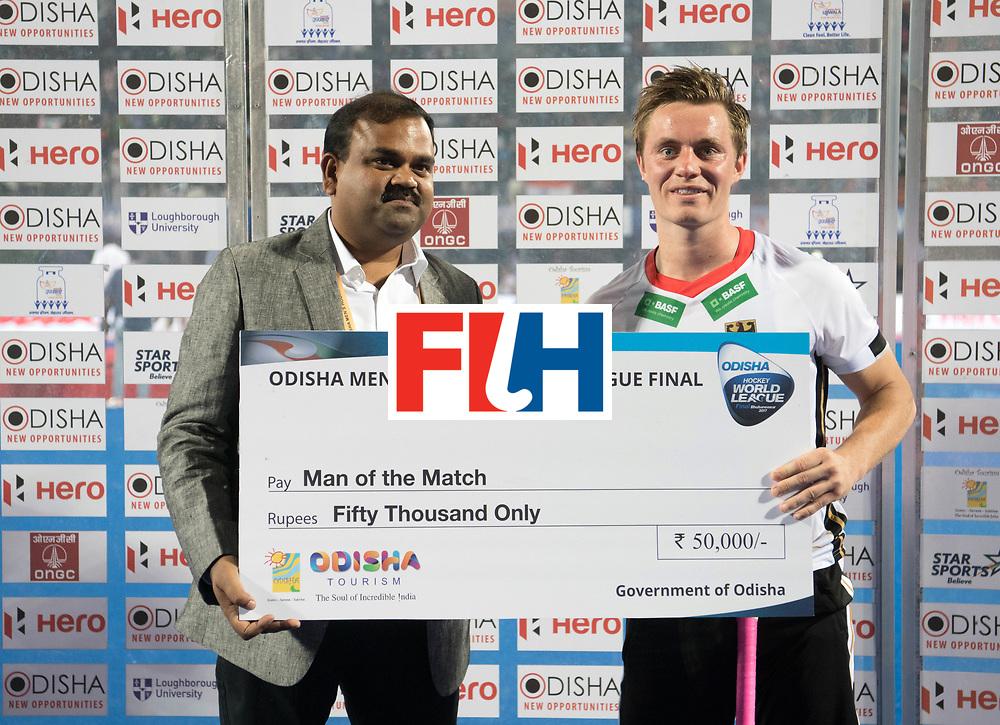 Odisha Men's Hockey World League Final Bhubaneswar 2017<br /> Match id:01<br /> Germany v England<br /> Foto: Mats Grambusch (Ger) <br /> WORLDSPORTPICS COPYRIGHT FRANK UIJLENBROEK