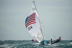 2012 Olympic Games London / Weymouth<br /> 470 men race course<br /> Biehl Graham, Stuart McNay, (USA, 470 Men)