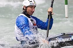 Luca Costa of Italy competes in the Men's Kayak K1 at Kayak & Canoe ICF slalom race Tacen 2010 on May 16, 2010 in Tacen, Ljubljana, Slovenia. (Photo by Vid Ponikvar / Sportida)