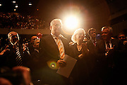 Tomislav Nikolic, center, during a standing ovation. Serbian Progressive Party (SNS) congress at Sava Center in Belgrade, Serbia. May 15, 2012...Matt Lutton for The Wall Street Journal.BELGRADE
