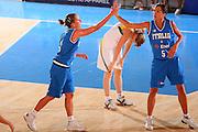 DESCRIZIONE : Bormio Torneo Internazionale Femminile Olga De Marzi Gola Italia Lituania <br /> GIOCATORE : Chiara Pastore Maria Chiara Franchini <br /> SQUADRA : Nazionale Italia Donne Italy <br /> EVENTO : Torneo Internazionale Femminile Olga De Marzi Gola <br /> GARA : Italia Lituania Italy Lithuania <br /> DATA : 25/07/2008 <br /> CATEGORIA : Esultanza <br /> SPORT : Pallacanestro <br /> AUTORE : Agenzia Ciamillo-Castoria/S.Silvestri <br /> Galleria : Fip Nazionali 2008 <br /> Fotonotizia : Bormio Torneo Internazionale Femminile Olga De Marzi Gola Italia Lituania <br /> Predefinita :