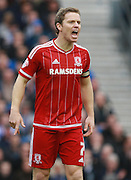 Middlesbrough FC midfielder Grant Leadbitter during the Sky Bet Championship match between Brighton and Hove Albion and Middlesbrough at the American Express Community Stadium, Brighton and Hove, England on 19 December 2015. Photo by Bennett Dean.